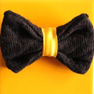 nœud papillon noir et jaune Kentemust