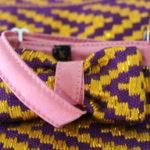 nœud papillon original violet et jaune Kentemust