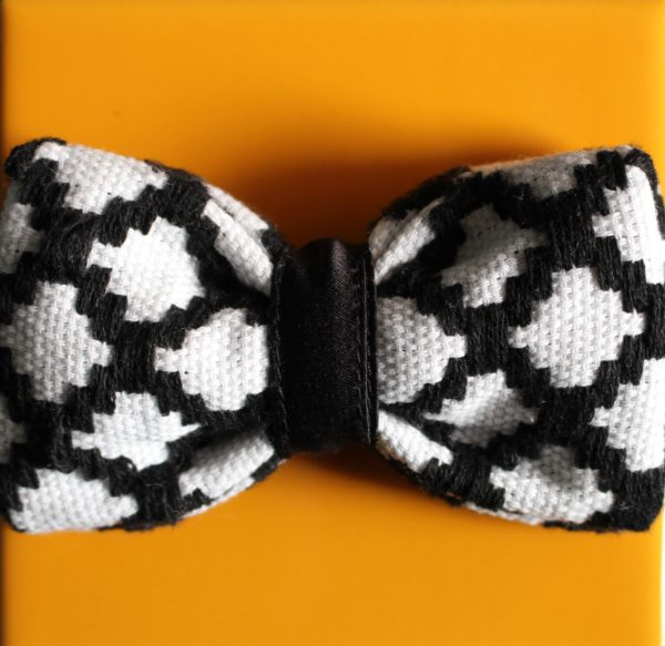nœud papillon noir et blanc original Kentemust